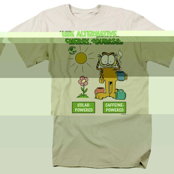 GARFIELD ALTERNATIVE ENERGY - S/S ADULT 18/1 - CREAM T-Shirt
