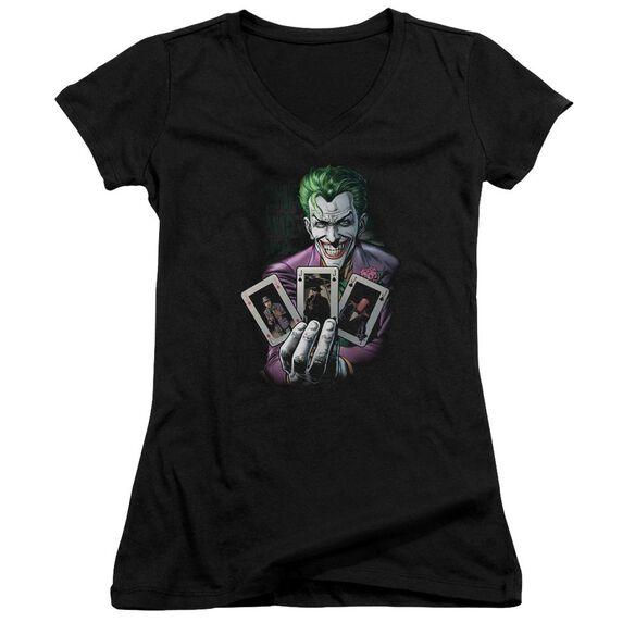 Batman 3 Of A Kind Junior V Neck T-Shirt