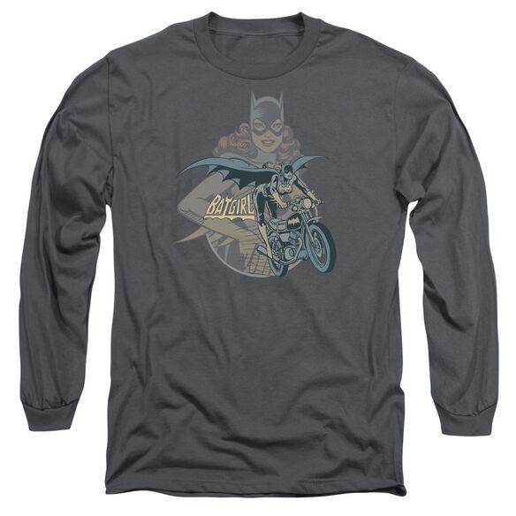Dc Batgirl Biker Long Sleeve Adult T-Shirt
