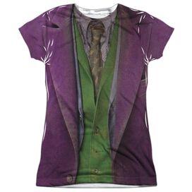 Dark Knight Joker Costume Short Sleeve Junior Poly Crew T-Shirt