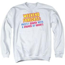 Weekend Forecast - Adult Crewneck Sweatshirt - White