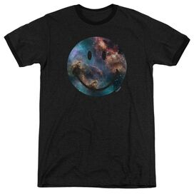 Smiley World Galaxy Face Adult Heather Ringer