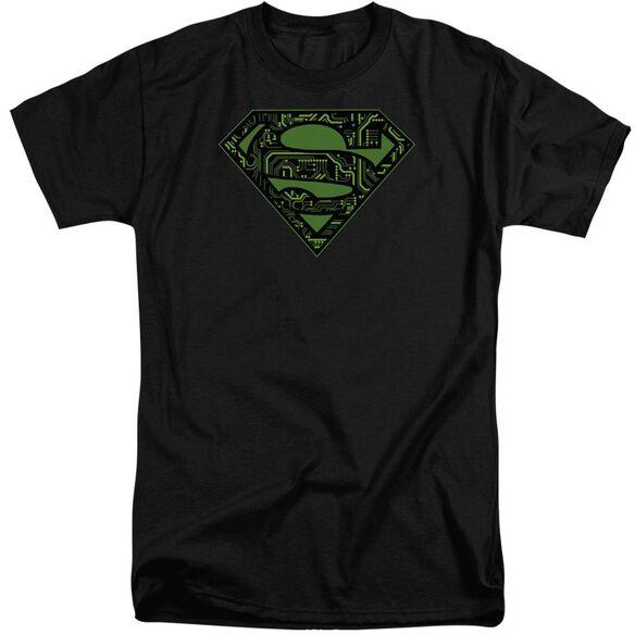 Superman Circuits Shield Short Sleeve Adult Tall T-Shirt