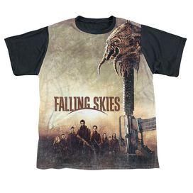 Falling Skies Skitter Head Short Sleeve Youth Front Black Back T-Shirt