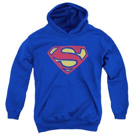 Superman Super Rough-youth Pull-over Hoodie - Royal