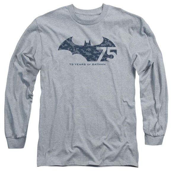 Batman 75 Year Collage Long Sleeve Adult Athletic T-Shirt