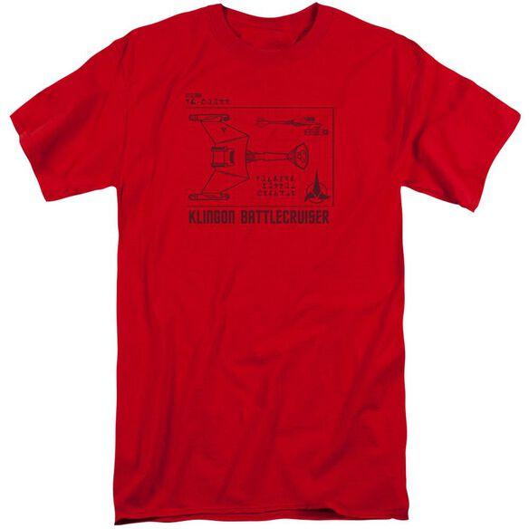 Star Trek D7 Diagram Short Sleeve Adult Tall T-Shirt