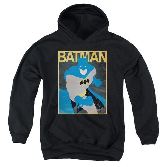 Batman Simple Bm Poster Youth Pull Over Hoodie