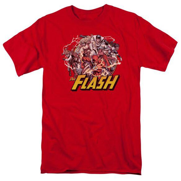 Jla Flash Family Short Sleeve Adult T-Shirt