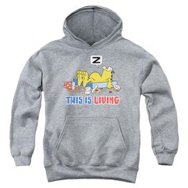 Garfield This Is Living-youth Pull-over Hoodie