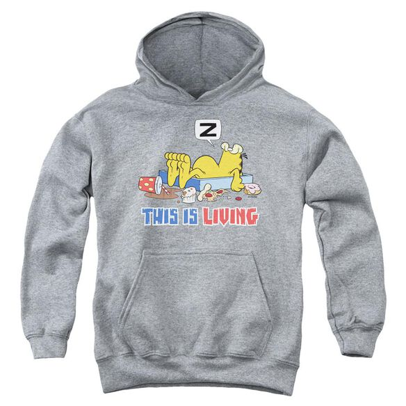 Garfield This Is Living Youth Pull Over Hoodie