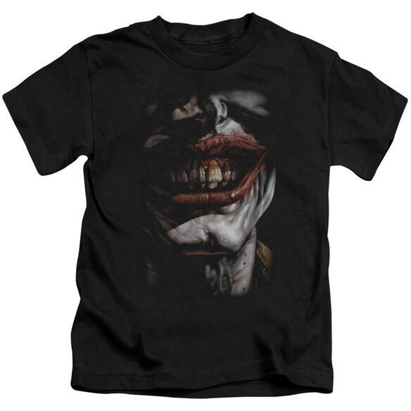Batman Smile Of Evil Short Sleeve Juvenile Black T-Shirt