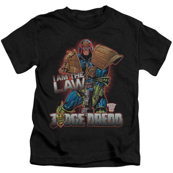 Judge Dredd Law Short Sleeve Juvenile Black T-Shirt