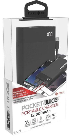 PocketJuice 12,000 mAh Portable Charger