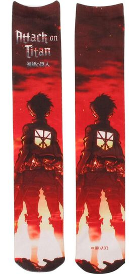 Attack on Titan Eren Dye Sub Crew Socks