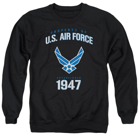 Air Force Property Of Adult Crewneck Sweatshirt