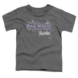 Bewitched Bad Witch Good Witch Short Sleeve Toddler Tee Charcoal T-Shirt