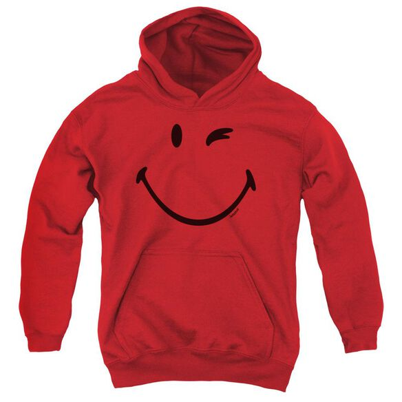 Smiley World Big Wink Youth Pull Over Hoodie