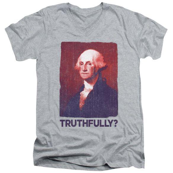 Truthfully George Short Sleeve Adult V Neck Athletic T-Shirt