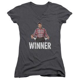 Married With Children Winner Junior V Neck T-Shirt