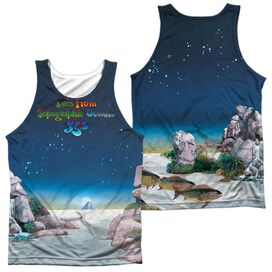 Yes Topographic Oceans (Front Back Print) Adult 100% Poly Tank Top