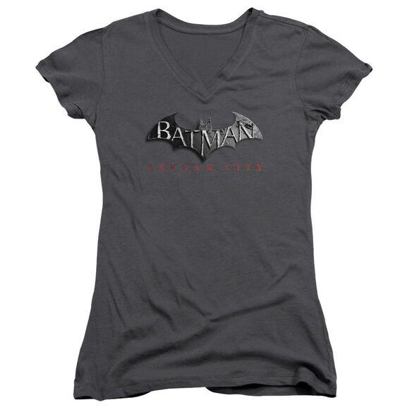 Arkham City Logo Junior V Neck T-Shirt