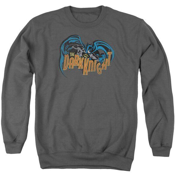 Batman Retro Dark Knight Adult Crewneck Sweatshirt