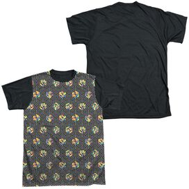 Rubiks Cube Black And Short Sleeve Adult Front Black Back T-Shirt