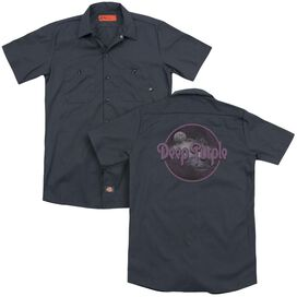 Deep Purple Smoke On The Water (Back Print) Adult Work Shirt