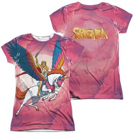 She Ra Sky Power (Front Back Print) Short Sleeve Junior Poly Crew T-Shirt