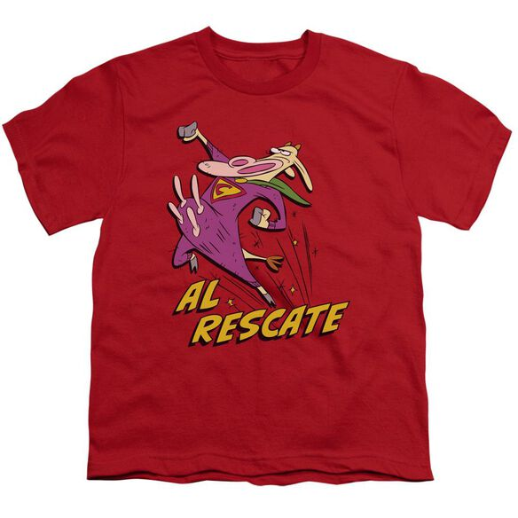 Cow And Chicken Al Rescate Short Sleeve Youth T-Shirt