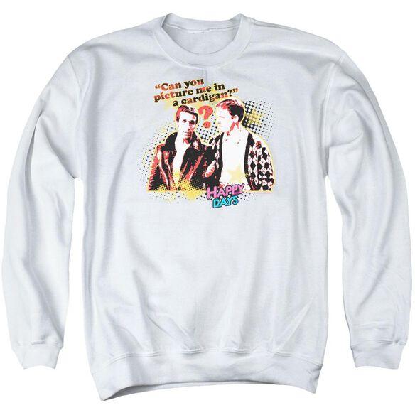 Happy Days No Cardigans Adult Crewneck Sweatshirt