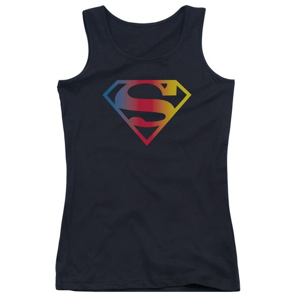 Superman Gradient Superman Logo Juniors Tank Top