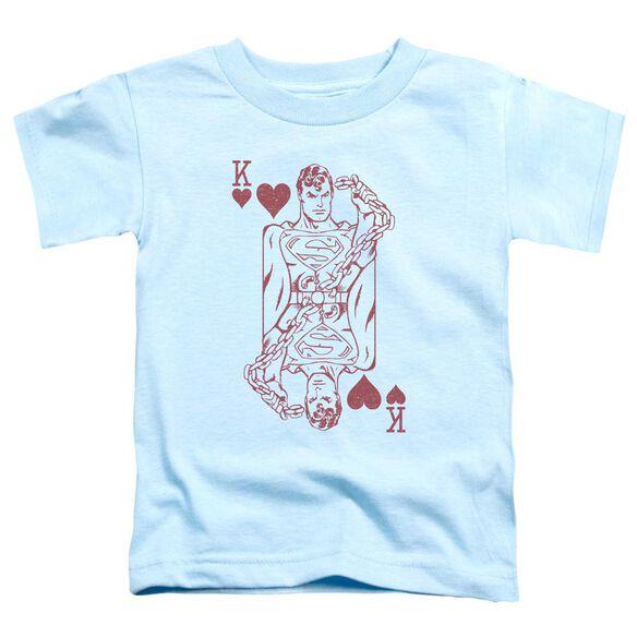 Dc Super Card Short Sleeve Toddler Tee Light Blue T-Shirt