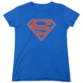 Supergirl Logo Short Sleeve Womens Tee Royal T-Shirt