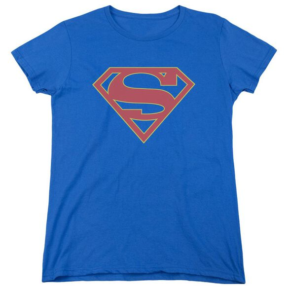 Supergirl Logo Short Sleeve Womens Tee Royal T-Shirt