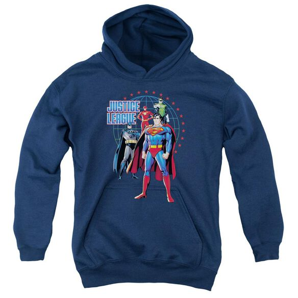Jla Protectors Youth Pull Over Hoodie