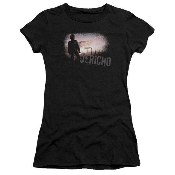 JERICHO MUSHROOM CLOUD - S/S JUNIOR SHEER - BLACK T-Shirt