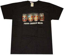 Simpsons Four Course Meal T-Shirt