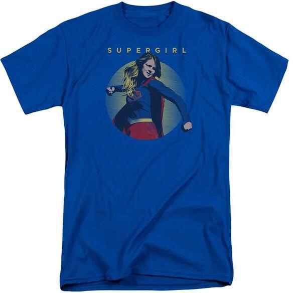 Supergirl Classic Hero Short Sleeve Adult Tall Royal T-Shirt