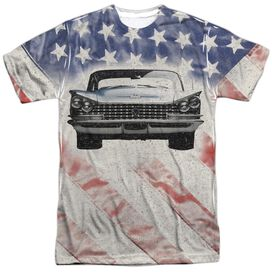 Buick 1959 Electra Flag Short Sleeve Adult Poly Crew T-Shirt