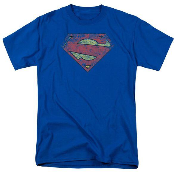 Superman New 52 Shield Short Sleeve Adult Royal Blue T-Shirt