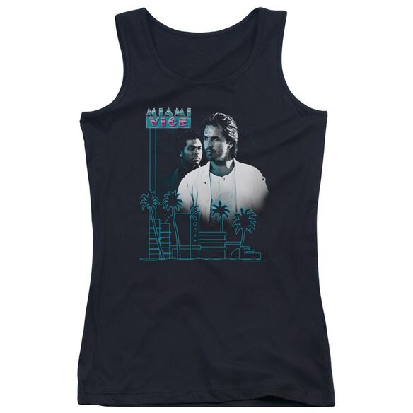 Miami Vice Looking Out Juniors Tank Top