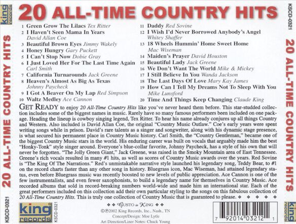 20 All Time Country Hits / Various