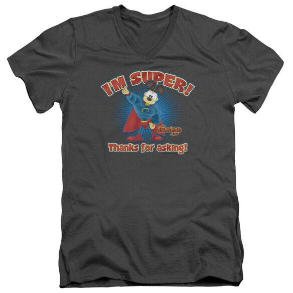 Garfield Super Short Sleeve Adult V Neck T-Shirt