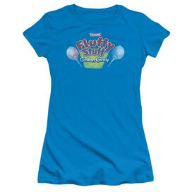 Tootsie Roll Fluffy Stuff Logo Short Sleeve Junior Sheer T-Shirt