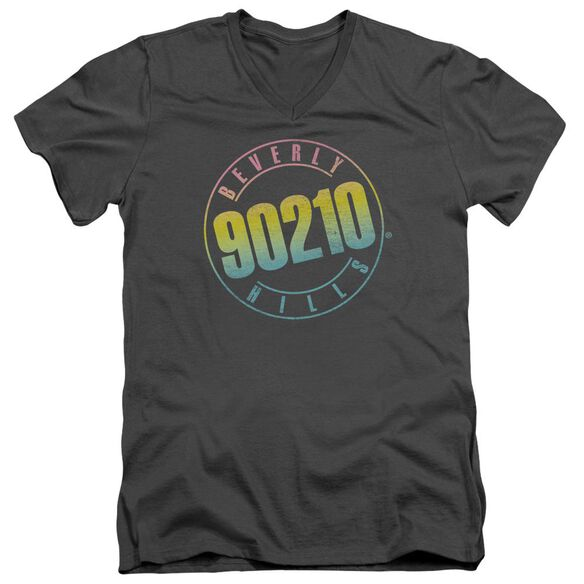 90210 Color Blend Logo Short Sleeve Adult V Neck T-Shirt