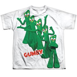 Gumby Moves Short Sleeve Youth Poly Crew T-Shirt