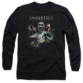 Injustice Gods Among Us Key Art Long Sleeve Adult T-Shirt
