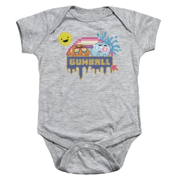 Amazing World Of Gumball Sunshine Infant Snapsuit Athletic Heather